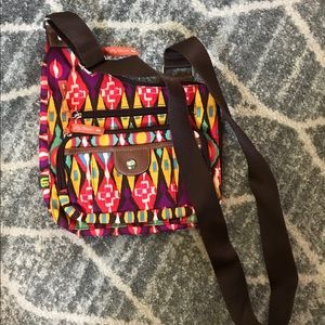 Lily Bloom aztec print crossbody bag
